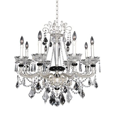 Campra 8-Light Crystal Chandelier Crystal: Swarovski Elements Clear