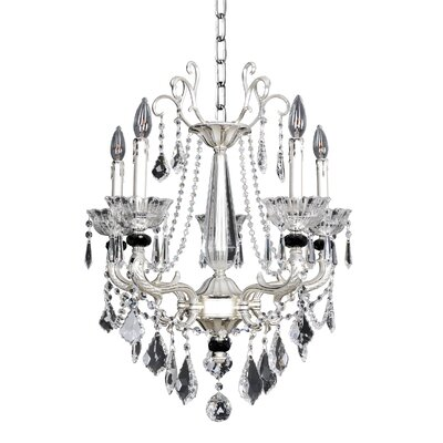 Campra 5-Light Crystal Chandelier Crystal: Swarovski Elements Clear