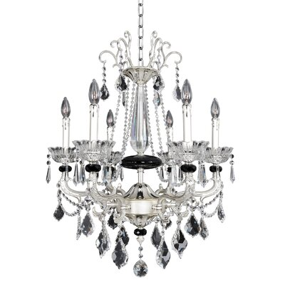 Campra 6-Light Crystal Chandelier Crystal: Swarovski Elements Clear