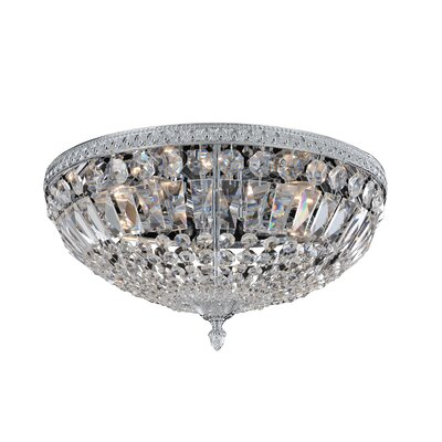 Lemire 5-Light Semi-Flush Mount Finish: Antique Gold