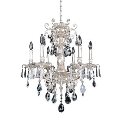 Marcello 6-Light Crystal Chandelier Crystal: Firenze Clear