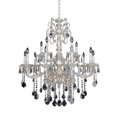 Marcello 15-Light Crystal Chandelier Crystal: Firenze Clear