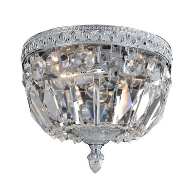 Lemire 2-Light Semi-Flush Mount Finish: Chrome