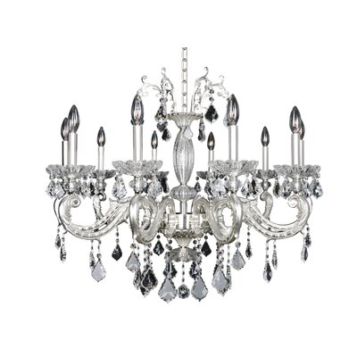 Casella 10-Light Crystal Chandelier Crystal: Firenze Clear