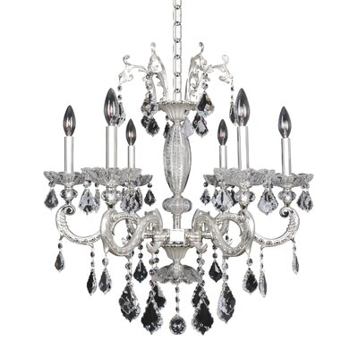 Casella 6-Light Crystal Chandelier Crystal: Firenze Clear