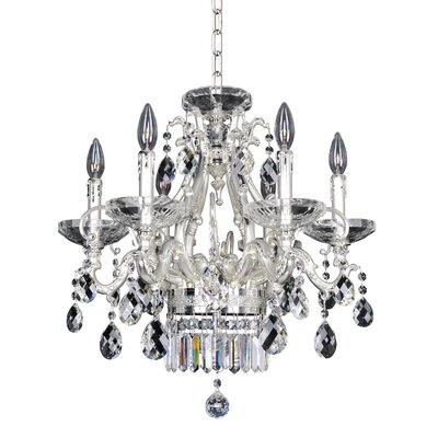 Rossi 6-Light Crystal Chandelier Crystal: Firenze Clear