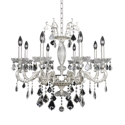 Casella 8-Light Crystal Chandelier Crystal: Swarovski Elements Clear