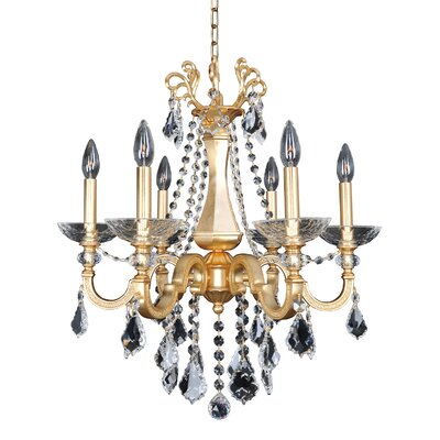 Barret 6-Light Crystal Chandelier Crystal: Firenze Clear