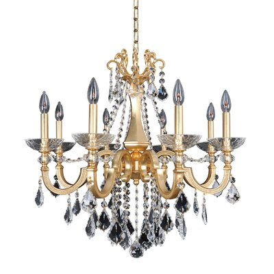 Barret 8-Light Crystal Chandelier Crystal: Swarovski Elements Clear