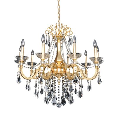 Barret 10-Light Crystal Chandelier Crystal: Firenze Clear