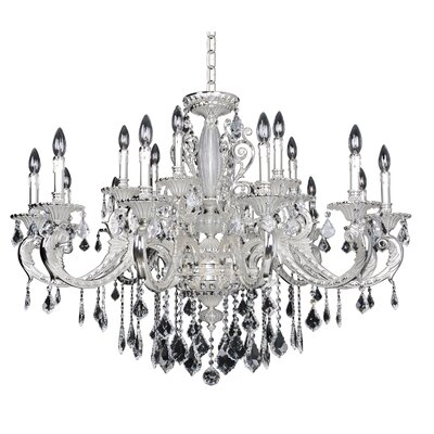 Casella 18-Light Crystal Chandelier Crystal Grade: Swarovski Elements Clear