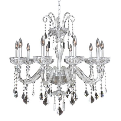Clovio 10-Light Crystal Chandelier