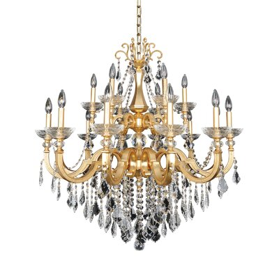 Barret 18-Light Crystal Chandelier Crystal: Swarovski Elements Clear