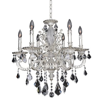Casella 6-Light Crystal Chandelier Crystal: Swarovski Elements Clear