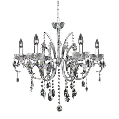 Catalani 6-Light Crystal Chandelier