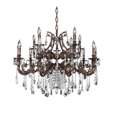 Avelli 15-Light Crystal Chandelier Crystal: Firenze Fleet Gold