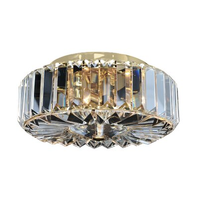 Valentin 2-Light Semi-Flush Mount Finish: 18K Gold