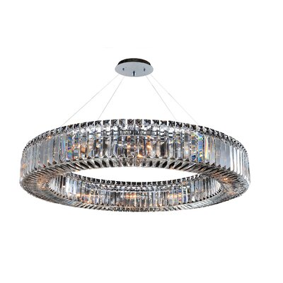 Rondelle 12-Light Drum Pendant