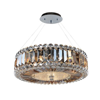 Luxor 3-Light Drum Pendant Size: 96 H x 16 W x 16 D