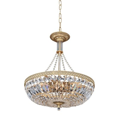 Aulio 8-Light Globe Pendant Finish: Antique Gold