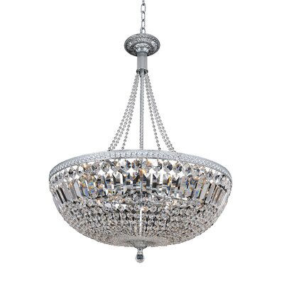 Aulio 11-Light Inverted Pendant Finish: Antique Gold