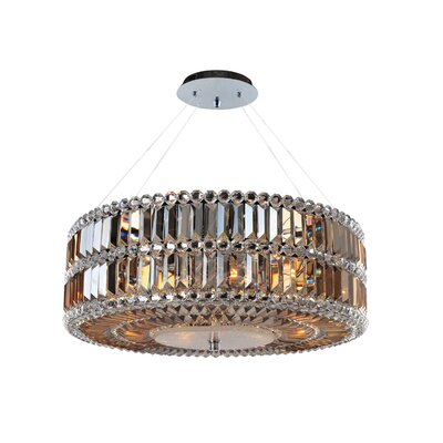 Luxor 3-Light Drum Pendant Size: 96 H x 24 W x 24 D