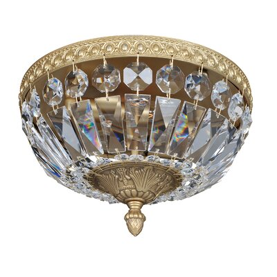 Lemire 2-Light Semi-Flush Mount Finish: Antique Gold