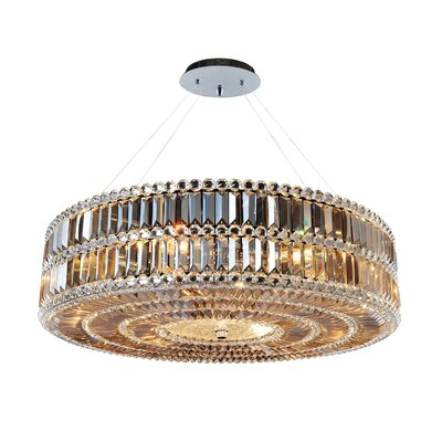 Luxor 3-Light Drum Pendant Size: 96 H x 32 W x 32 D