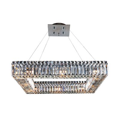 Quadro 12-Light Crystal Pendant