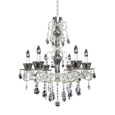 Locatelli 6-Light Crystal Chandelier Crystal: Swarovski Elements Clear