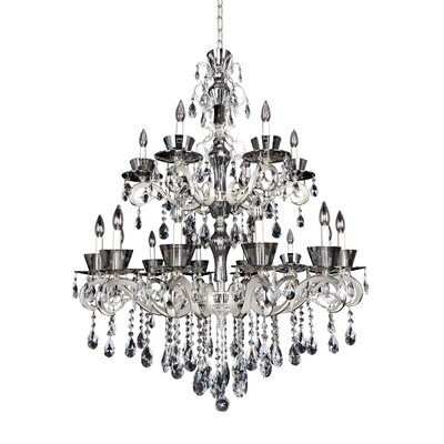 Locatelli 18-Light Crystal Chandelier Crystal: Firenze Clear