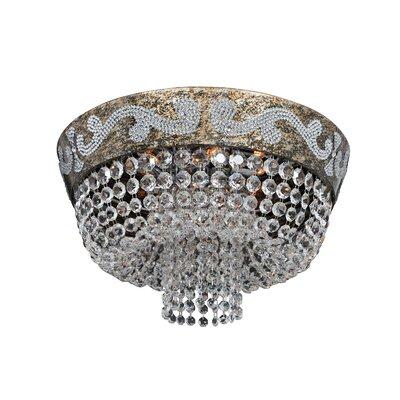 Romanov 7-Light Semi-Flush Mount Crystal: Firenze Clear