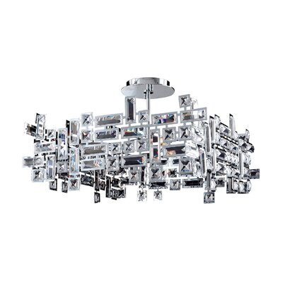 Vermeer 8-Light Pendant Finish: Chrome, Crystal: Firenze Clear