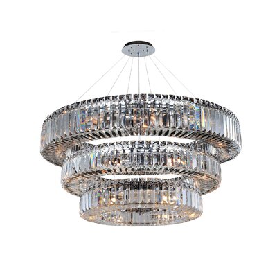 Rondelle 39-Light Crystal Pendant