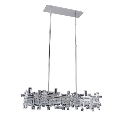 Vermeer 6-Light Kitchen Island Pendant Finish: Chrome, Crystal: Firenze Clear