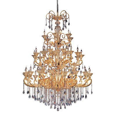 Legrenzi 48-Light Crystal Chandelier Finish: Two-Tone Gold /24K, Crystal: Swarovski Elements Clear