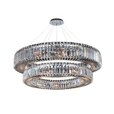 Rondelle 21-Light Crystal Pendant