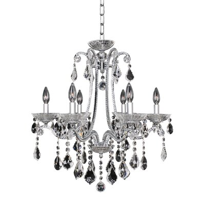 Ferrero 6-Light Crystal Chandelier Crystal: Swarovski Elements Clear