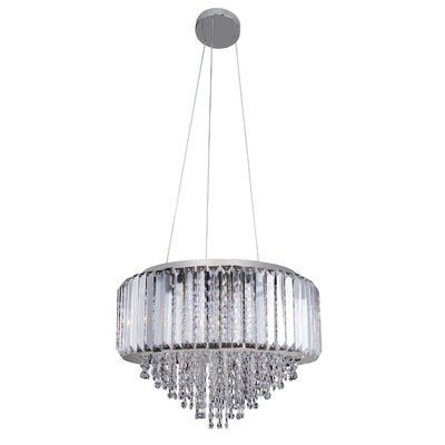 Adaliz 4-Light Drum Pendant Crystal: Firenze Clear