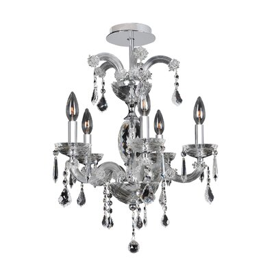 Giordano 5-Light Candle-Style Chandelier