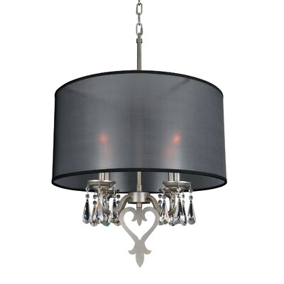 Georgetta 4-Light Drum Chandelier Size: 33.5 H x 23.6 W x 23.6 D