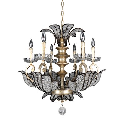 Tiepolo 6-Light Crystal Chandelier Crystal: Firenze Clear