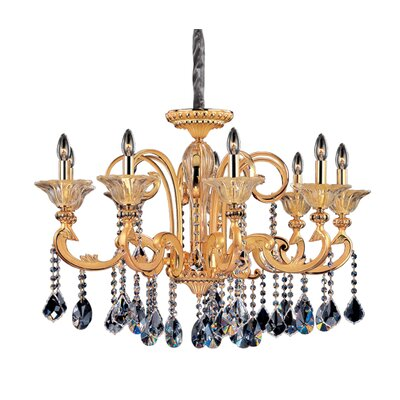 Legrenzi 9-Light Crystal Chandelier Crystal: Swarovski Elements Clear, Finish: Two-Tone Gold /24K