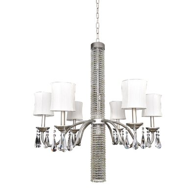 Albertina 6-Light Shaded Chandelier