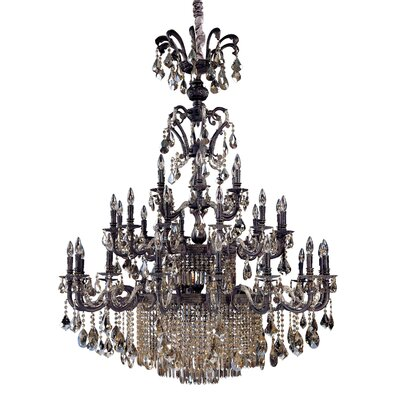 Avelli 41-Light Crystal Chandelier Crystal Color: Firenze Fleet Gold