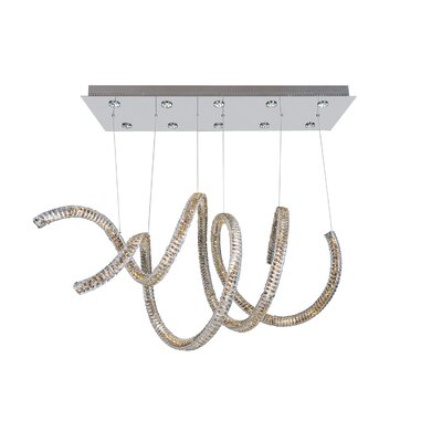 Ravina 10-Light Crystal Chandelier Crystal: Swarovski Elements Clear