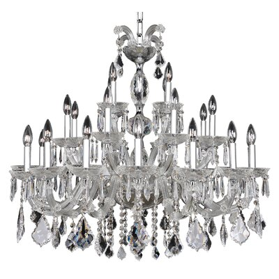Giordano 28-Light Crystal Chandelier