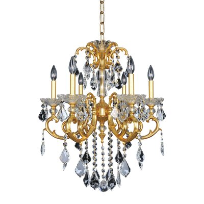 Praetorius 6-Light Crystal Chandelier Finish: French Gold / 24K, Crystal: Firenze Clear