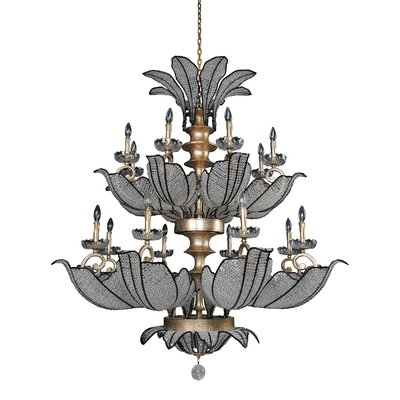 Tiepolo 16-Light Crystal Chandelier Crystal: Firenze Clear