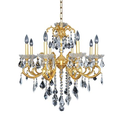 Praetorius 8-Light Crystal Chandelier Finish: French Gold / 24K, Crystal: Firenze Clear
